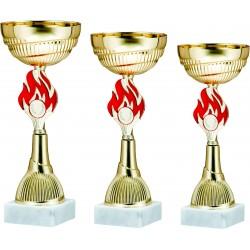 Pokali univerzalni 9334ABC, komplet 3 pokalov (od 25-30cm)